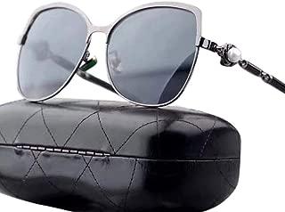 LUKEEXIN Women's Classic Polarized Sunglasses, Fashion Style, UV Protection (Color : Grey)