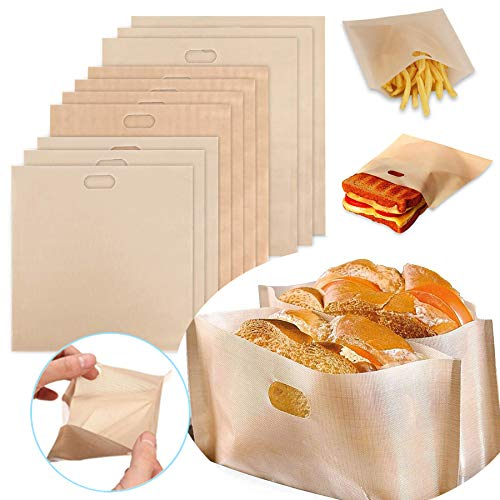 Product Image of the Toastie Bags for Toaster Grill Bags Non-Stick Washable Teflon Heat Resistant...