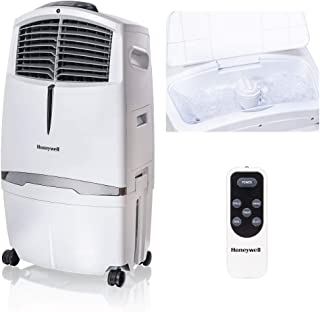 Honeywell 525-729CFM Portable Evaporative Cooler, Fan & Humidifier with Ice Compartment & Remote, CL30XCWW, White