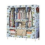 HPYR Oxford-Kleiderschrank mit großem Fassungsvermögen, abnehmbare Massivholzablage, schweres...
