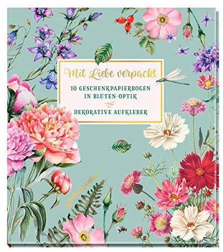 Mit Liebe verpackt - 10 Geschenkpapierbogen in Blüten-Optik