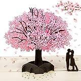 3D Biglietti Auguri, 3D Pop-up San Valentino Biglietti di Auguri invito Matrimonio Carta,A...