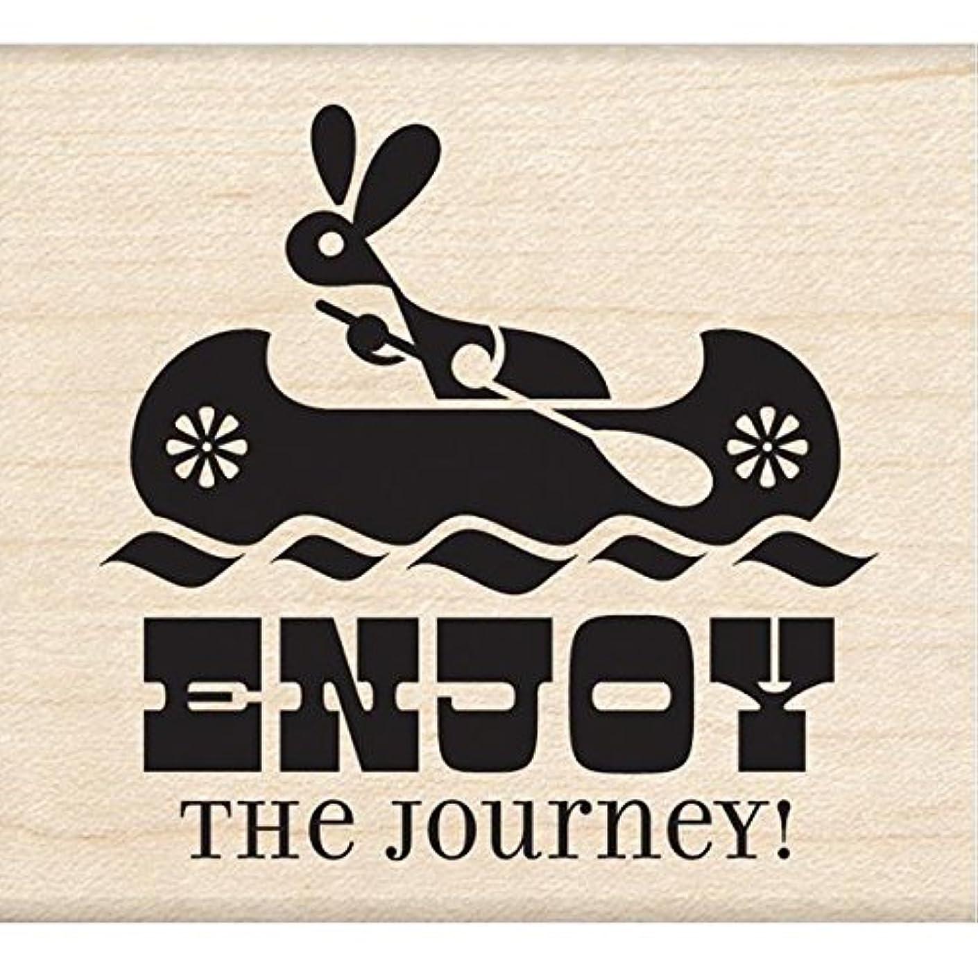 Inkadinkado Wood Stamp, Enjoy The Journey