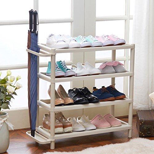 NYDZDM 3/4 rij-schoenenrekken, kleine smalle opslagstandaard voor laarzen balkon-ingang-hoekingang-rek wit
