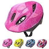 Casco Bicicleta Bebe Helmet Bici Ciclismo para Niño - Cascos para Infantil - Bici Casco para Patinete Ciclismo Montaña BMX Carretera Skate Patines monopatines (S(48-52 cm), Pink)