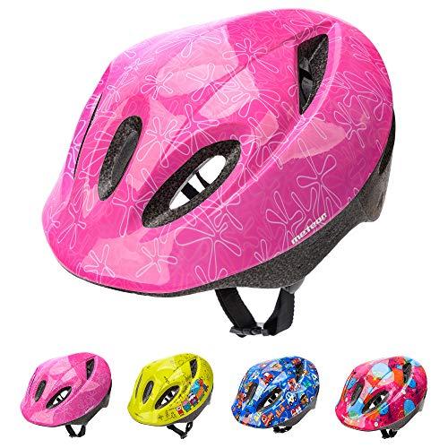 meteor Casco Bici ideale per bambini e adolescenti Caschi perfetto per Downhill Ciclismo MTB Scooter Helmet Ideale per Tutte Le Forme di attività in Bicicletta (M (52-56 cm), KS05 PINK)