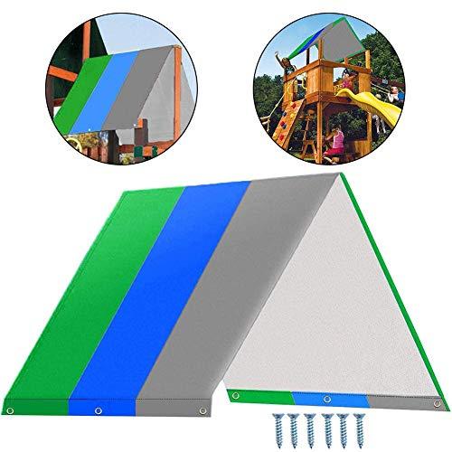 Bestlle Auvent de Toit pour Aire de Jeux pour Enfants, balançoire extérieure Multicolore, bâche de Rechange, Couverture de Parasol étanche Swingset pour Jardin Patio Yard