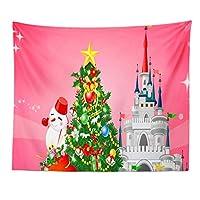 クリスマス タペストリー 壁飾り 壁掛け 夢幻の城おしゃれ 装飾布 欧米風 インテリア 多機能 パーティー 新年祝い 子供部屋 窓 お店おしゃれ飾り