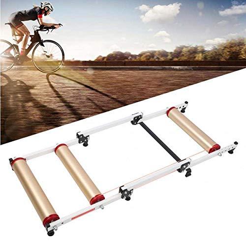 LJLYL Rouleaux vélo, Support réglable vélo d'intérieur Formateur, Rouleau Portable Faire du vélo Pliable, pour VTT Vélo de Route Accessoires Exercice