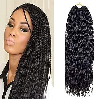 VRUnique (18 Inch (6 Count), 1B#) Senegalese Twist Crochet Hair Braids Small Havana Mambo Twist Crochet Braiding Hair Senegalese Twists Hairstyles For Black Women 30 Strands/Pack