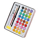 Juego de pintura acrílica para acuarela de 36 colores y material de pintura portátil de alta calidad, juego de herramientas de pincel pintadas a mano para principiantes, utilizado para pintar
