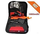 PRIKNIK Power Bank Charger Portable 50800mAh Vehicle Car Jump Starter Booster Battery Mobile...