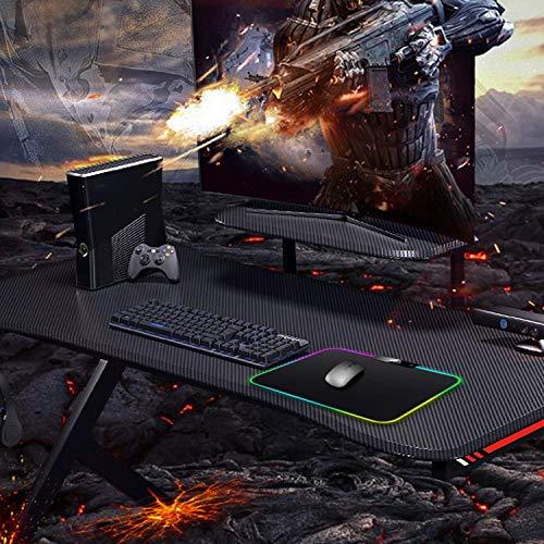 ICETEK RGB Gaming Mauspad LED Mousepad Maus Mat Beleuchtung Extra USB Eingang für Maus, Tastatur oder Handy (350 x 250 x 5mm)