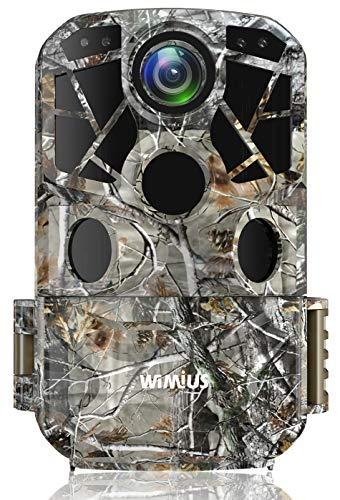 WiMiUS H8 WLAN Wildkamera 24MP 1296P Video WiFi Wildkamera mit Bewegungsmelder Nachtsicht, 120° Weitwinkel IP66 Wasserdicht Wildtierkamera, Überwachungskamera für Jagd und Heimsicherheit