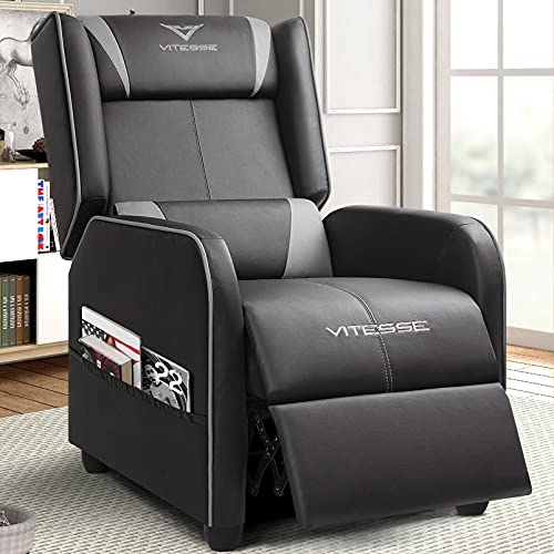 Vitesse Gaming Recliner Chair Racing Style Single Ergonomic Lounge Sofa Modern...