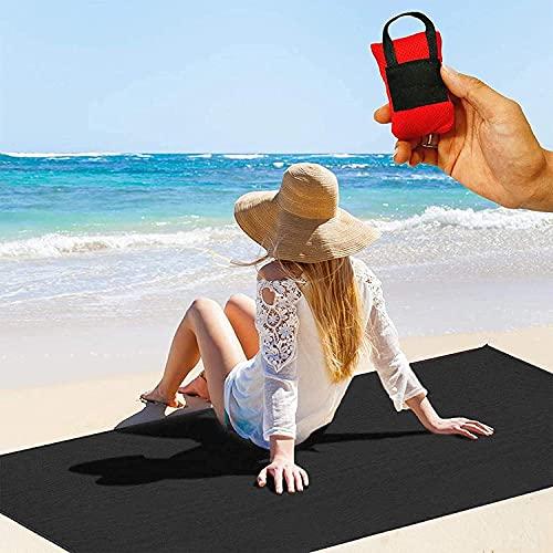 Tragbare Mini Picknicktasche Faltbare Tasche Strandmatte Familienmatte Wasserdicht für Camping, Wandern Outdoor Picknicks Strandzubehör 70x110cm