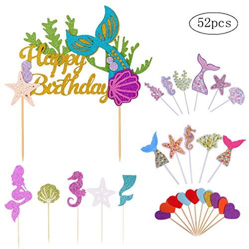18 X Mermaid Tails plat Comestible Cupcake Topper//Décoration plaquette papier//Icing