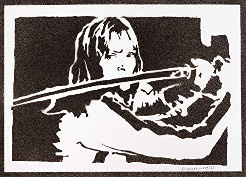 Kill Bill Poster Beatrix Kiddo Plakat Handmade Graffiti Street Art - Artwork