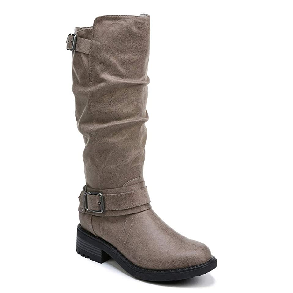 平和第二不完全な[Carlos by Carlos Santana] Womens Selena Fabric Round Toe Knee High Fashion Boots [並行輸入品]