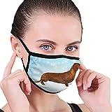 CZLXD Máscara de Perro Salchicha de Pelo Largo, Antipolvo, máscara de Boca y anticontaminación para Hombre y Mujer