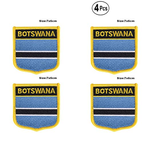 Botswana Shiled Shape vlag patches nationale vlag patches voor Cothing DIY Decoratie