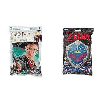 Perler 80-11138 Harry Potter Pattern and Fuse Bead Kit x 11   3503pc Multicolor & 80-11125 Nintendo s The Legend of Zelda Hylian Shield Pattern and Fuse Bead Kit 10.75   x 13   3503pc