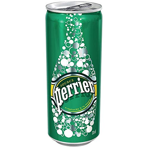 Perrier Natural Sparkling Mineral Water 24x 330ml Slim Can -