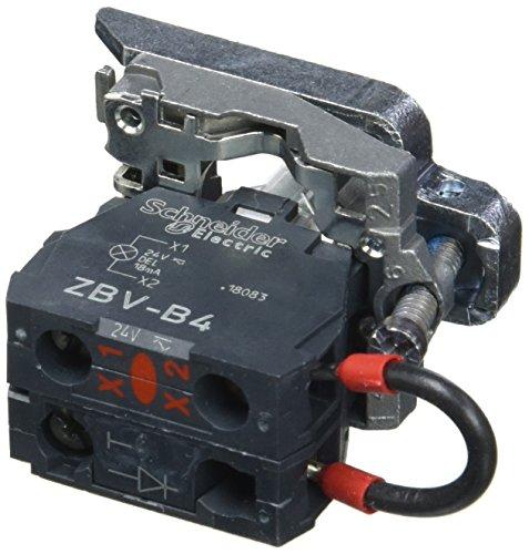 Schneider ZB4BVB4156 Körper für Meldeleuchte, ZB4, mit LED-Modul, rot, 24 V