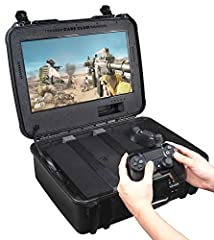 🎮The product includes case, built in monitor, internal speakers, HDMI cable, monitor power cord, custom foam, and hook and loop straps. Patented. 🎮Easy to use! Just connect the HDMI and power cord to your PlayStation 4, PS4 Slim, or PS4 Pro and then ...