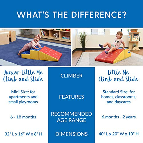 ECR4Kids - ELR-12653 SoftZone Little Me Play Climb and Slide, Primary (2-Piece)