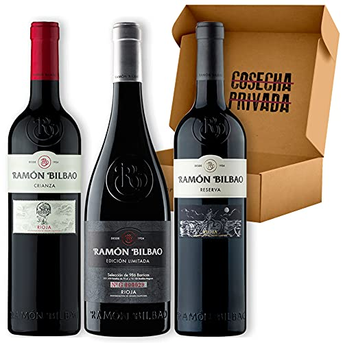 Pack Ramón Bilbao - Estuche Regalo Vino - Envío Gratis 24h - 3 Botellas de Vino Tinto -Enviado por Cosecha Privada