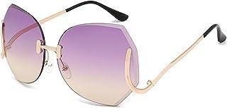Dama gafas de sol, Moda para hombres y mujeres Irregular Pierna especial Siamesa Protección UV Gafas de sol para mujeres Viaje de conducción al aire libre Gafas de sol de mujer, ( Color : Púrpura )