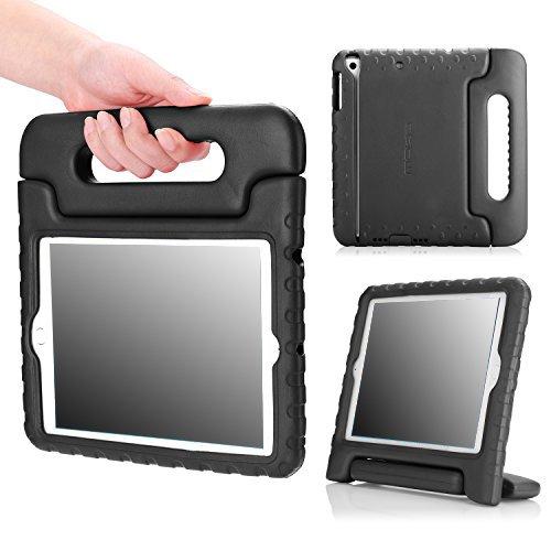 MoKo Hülle für iPad Mini 3 / 2 / 1 - Superleicht EVA Stoßfest Kinderfre&lich Kinder Schutzhülle mit umwandelbarer Handgriff Handle & Standfunktion für Apple iPad Mini 3/2/1, Schwarz (Nicht für Mini 4)