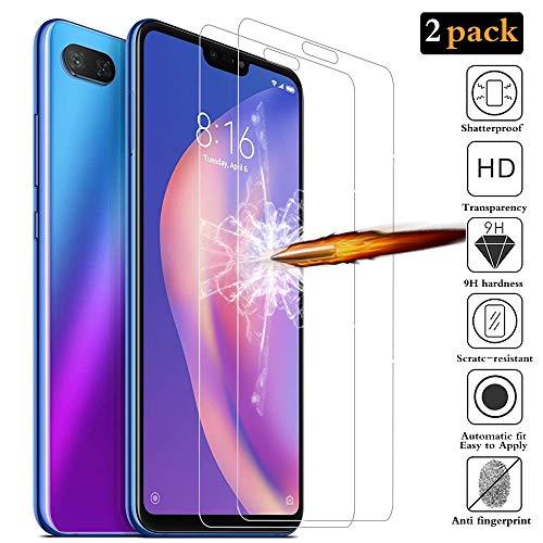 ANEWSIR Schutzfolie für Xiaomi Mi 8 Lite, Mi 8 Lite Schutzfolie 9H Festigkeit Bildschirmschutzfolie [2 Stück], Anti-Kratzen, Anti-Bläschen, Schutzfolie Folie für Mi 8 Lite.
