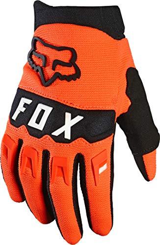 Fox Yth Dirtpaw Glove fluorescent Orange Yl, L