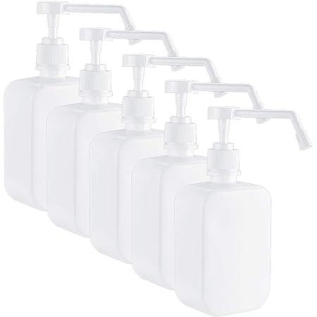 Qosea スプレーボトル アルコール対応 500ml 5個 大容量 霧吹き 噴霧器 極細ミスト 空ボトル 手指消毒機 家庭用 詰替ボトル 滅菌器 軽量 手圧ボトル 消毒剤 遮光 ホワイト