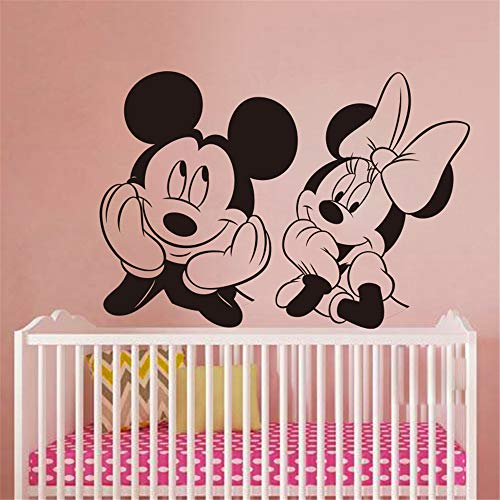 Mickey Mouse Sticker Mural Decal Bébé Pépinière Mignon Souris Wall Sticker Famille Amour Animal Sticker Enfants, Mur Art Facile Murale