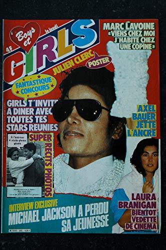 BOYS et GIRLS n° 255 * novembre 1984 * COVER MICHAEL JACKSON AXEL BAUER POSTER JULIEN CLERC MARC LAVOINE