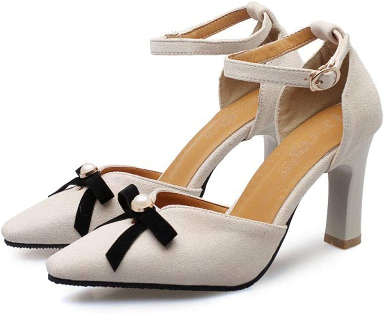 Women's shoes Pointed Artificial PU high Heel Stiletto Sandals Bow Decoration Single shoes Summer