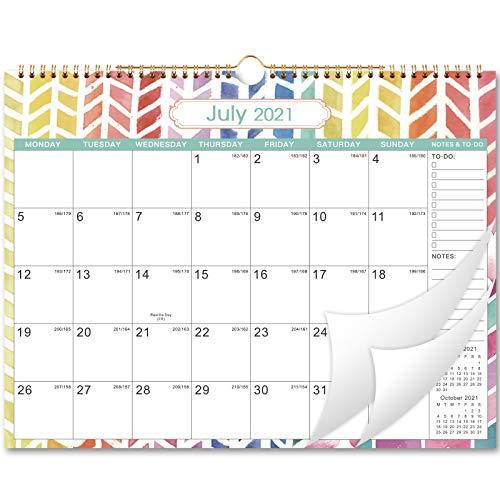 Calendario da parete 2021-2022, calendario da parete, agenda mensile da luglio 2021 a dicembre 2022, 37,5 cm x 28,8 cm