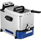 SEB FR804000 Oleoclean Pro Single Freestanding Fryer, 2300 W, 3.5 liters, Black, Blue, Stainless Steel