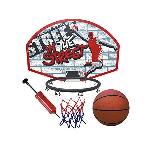 Tachan- Canasta de Baloncesto con Pelota e Hinchador, Color Rojo y Negro (CPA 72300881R1)