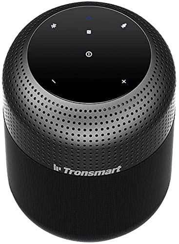 Tronsmart T6 MAX Altavoz Bluetooth 60W, 20h de Reproducción, Efecto de Triple Bajo, 360° Sonido Estéreo Potentes con NFC & Micrófono, Manos Libres, Impermeable IPX5 Altavoz Portátil para Hogar