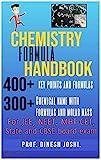 Chemistry Formula - Handbook: For JEE, NEET, MHT-CET, State and CBSE board exam