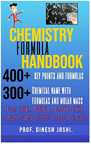 Chemistry Formula Handbook For Jee Neet Mht Cet State And Cbse Board Exam Ebook Joshi Prof Dinesh Amazon In Kindle Store