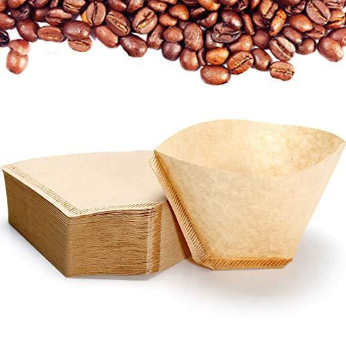 Nuluxi Filterpapier für Kaffee Ungebleicht Papier Kaffeefilter Korbfilter Kaffeefilter Filtertüten Ungebleichten Naturpapiere Kaffee-Werkzeuge für den Einsatz in Einer Vielzahl von Kaffeemaschinen