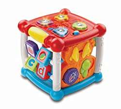 BABY ACTIVITY CENTRE: Featuring 5 different sides to explore, this activity cube comes packed with plenty of features to catch and retain your baby's attention, whilst keeping them entertained CUTE ANIMAL LIGHT UP BUTTONS: Featuring 4 sensory light u...