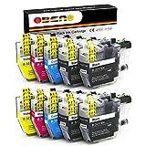 OBENO – 2 Sets 2Bk – LC3217 LC3219 Confezione da 10 Cartucce Compatibili per Brother MFC-J5330DW MFC-J5335DW/ J5730DW/ J5930DW / J6530DW MFC-J6930DW MFC-J6935DW (4 Nero, 2 Ciano, 2 Magenta, 2 Giallo)