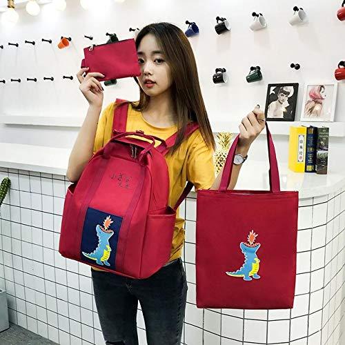 3 pcs Sets Canvas Schoolbags Teenage Girls Boys Women Travel Backpack,School Men Shoulder Bags Backbag