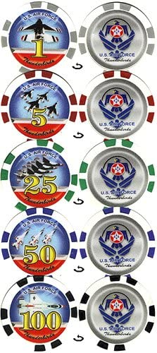 100 11.5 g US Air Thunderbird Chip set Force Poker Albuquerque Mall Miami Mall